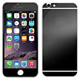 Front+Back Mirror Effect [Full Coverage] Tempered Glass Screen Protector for Apple iPhone 6 / 6S 4.7 inch - Generic Premium 9H Anti Scratch Full Edge to Edge Protection Protector Film - Black