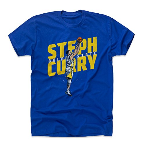 500 LEVEL Steph Curry Cotton Shirt Large Royal Blue - Golden State Basketball Men's Apparel - Steph Curry Jumper Y (Golden State Warriors Custom Jersey)