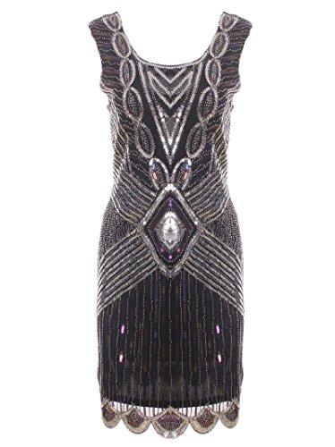 Vijiv Embellished Vintage inspired Flapper