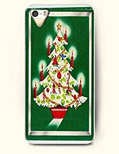 Merry Christmas Xmas Tree With Red Candles - OOFIT iPhone 4 4s Case
