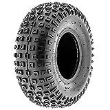 SunF A011 Sport XC ATV Go-Kart Tire 145/70-6 (14x6-6), 6 PR, Square-Knobby Tread, Tubeless