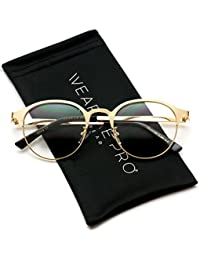 Round Retro Lightweight Metal Hipster Prescription Glasses