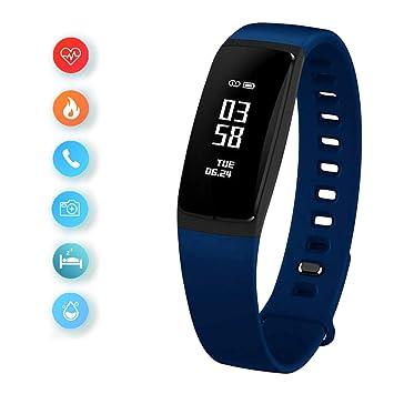YK WATCH Fitness Tracker dActivité Montre Connectée Cardiofréquencemètre Bracelet Connecté Podomètre Etanche IP67 Femme