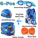 Jeferym Boys Swimsuit (Large 3-4Y Waist:20.47''-26'', 02 Light Blue)
