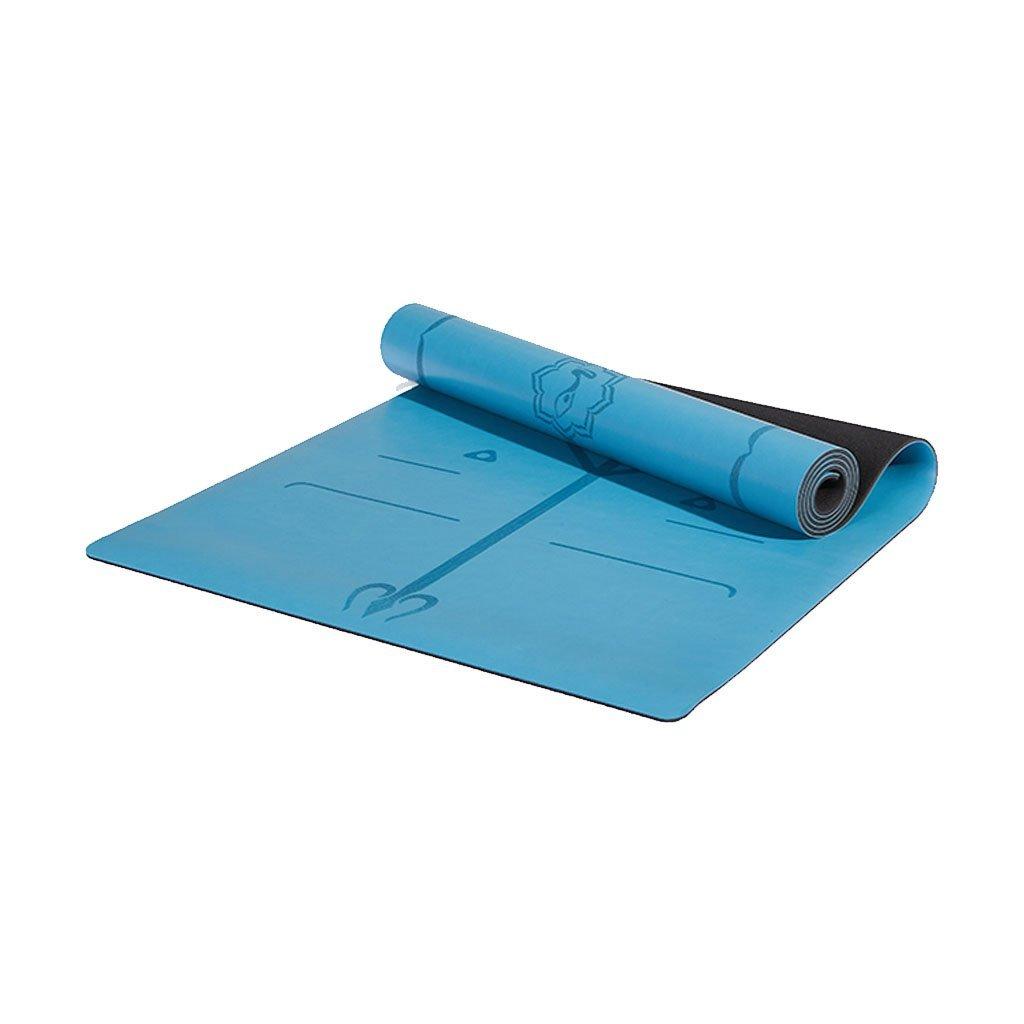 QAR Yogamatte Anfänger Rutschfeste Sport Fitness Yoga Matte Yoga Matte (Farbe   Blau, größe   183cmX 68cm)
