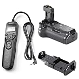 Neewer® BG-E8 Replacement Battery Grip + LCD Timer Shutter Release Remote Control for Canon EOS 550D 600D 650D 700D/ Rebel T2i T3i T4i T5i SLR Cameras