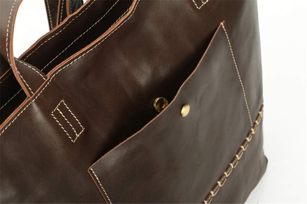 Women Handbag leather fashion shoulder bag Europe and the United States big tote bag retro handbag for female Red
