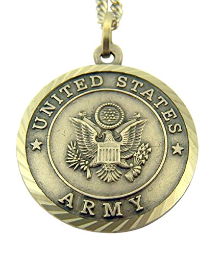 Womens Nickel Silver US Army Medal with Christ Cross Back, 3/4 Inch