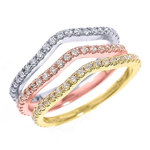 Tri Color Gold Diamond - 6