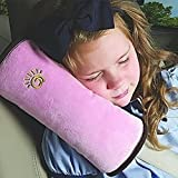 Children Baby Safety Strap Soft Headrest Neck Support Pillow Shoulder Pad for Car Safety Seatbelt,Pink by IDS