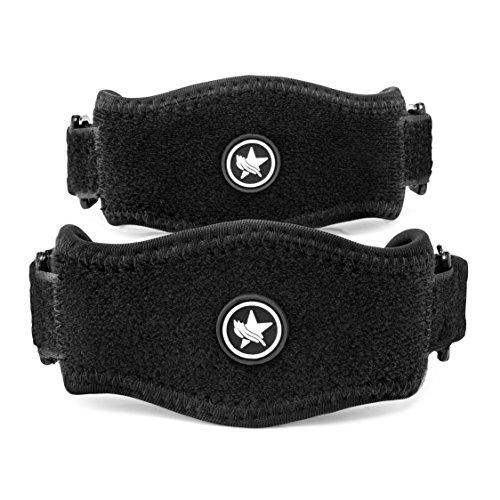 2 Stück Premium Ellenbogenbandage mit Kompressionskissen - Schmerzlinderung bei Golfer & Tennisarm (Medizinische Einschätzung) - Wasserfestes, vielseitiges Design - Premium-Qualität Tennisarm Bandage