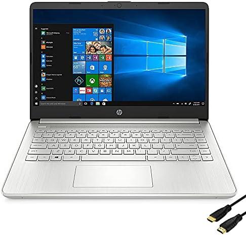 HP 14-inch IPS FHD Display, AMD Ryzen 5 5500U, 8GB DDR4 RAM, 256GB SSD, Light & Portable, Wi-Fi-6, Bundle Woov HDMI Cable, Windows 10 Home, Silver