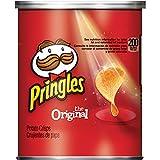 Pringles Potato Crisps Chips, Original Flavored, Single Serve, Grab and Go,1.3 oz Can(Pack of 12)