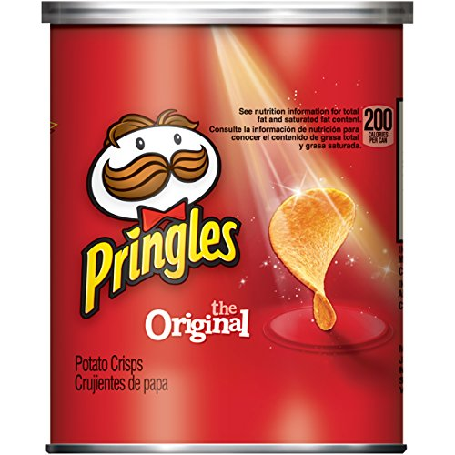 Pringles Potato Crisps Chips, Original Flavored, Single Serve, Grab and Go, 1.3 oz Can(Pack of 12) - Pringles Original Potato Chips