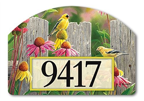YardDeSign Goldfinches and Coneflowers Yard Sign 71273