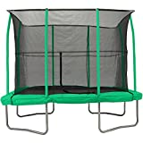 7' X 10' RECTANGULAR TRAMPOLINE with Fully integarated enclosure system, Green