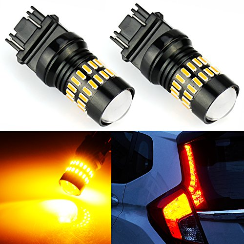 JDM ASTAR Extremely Bright 4014 Chips 3156 3057 3157 4057 4157 LED Bulbs with Projector,Amber Yellow -