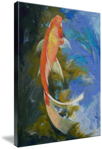 Butterfly Koi Painting (Giclee Art Print), Michael Creese
