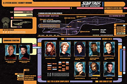 Tng Poster - Star Trek Next Generation Cast TV Show Poster 36x24 inch