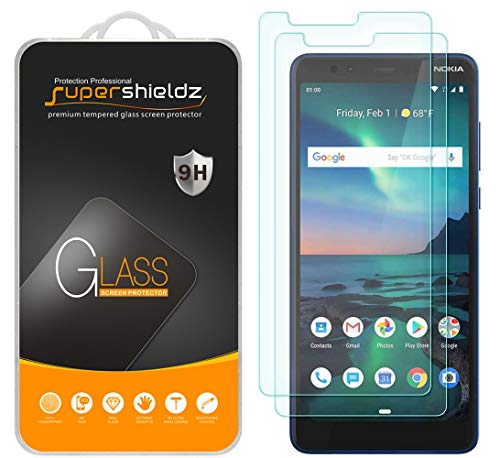 (2 Pack) Supershieldz for Nokia (3.1 Plus) (US Cricket Wireless Version) Tempered Glass Screen Protector, Anti Scratch, Bubble Free (Screen Big Nokia)