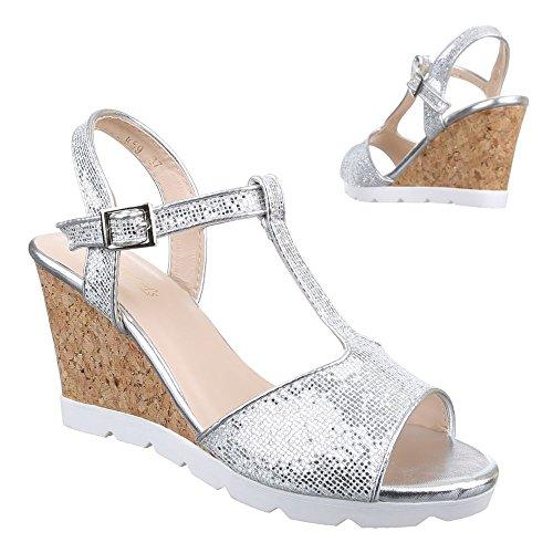 chaussures femme Design compensées Argent Ital AZq5xOw