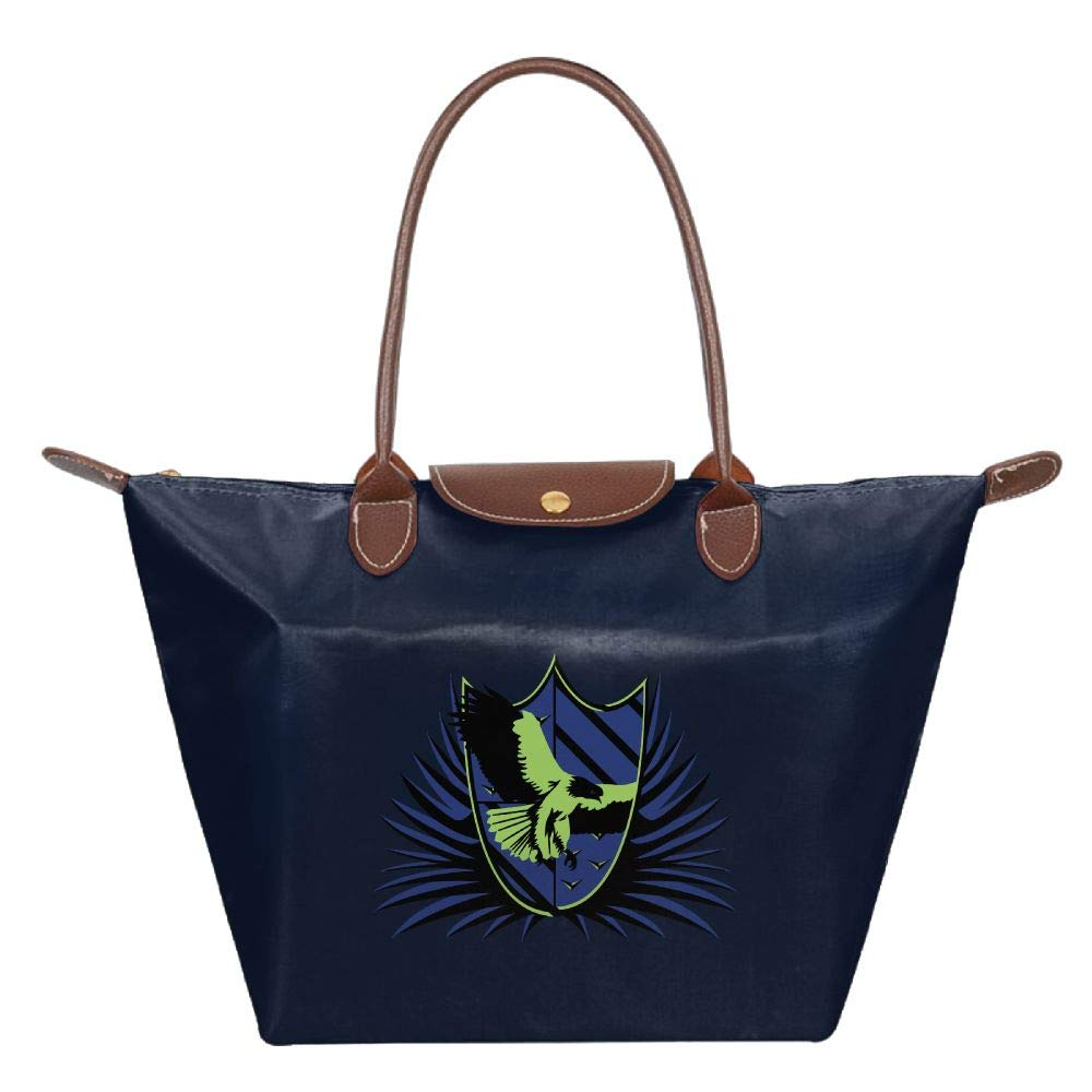 Navy Ravenclaw Women Handbags Organizer Casual Printing Waterproof Fold Tote Bag