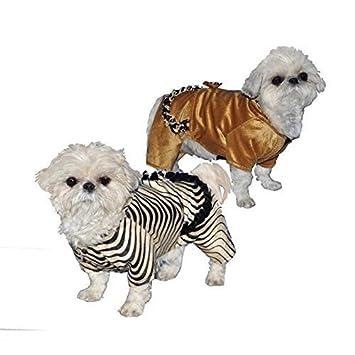 Dulce de abrigo para perros pequeños a escudo - negro rayas (Zebra): Amazon.es: Juguetes y juegos