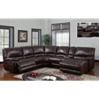 Global Furniture USA U1953-SECTIONAL Global Furniture Piece 6 Pcs Sectional Brown 940