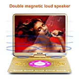 22 inch Portable DVD Player with 270 Swivel Screen, Large Size Screen Car DVD Player Built-in 10 Hours Rechargeable Battery, Support SD Card & USB Direct Play in Formats AVI/RMVB/MP3/JPEG.