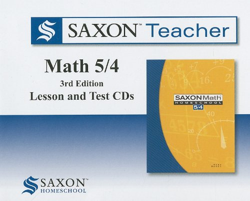 Saxon Math 5/4 Homeschool: Saxon Teacher CD ROM 3rd Edition