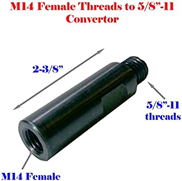 """MTP Dry Core Bit Adapter:5//8/""""-11 Female to 5//8-11 Male accept Center Pilot Drill Hole UNC Adapter Only"""