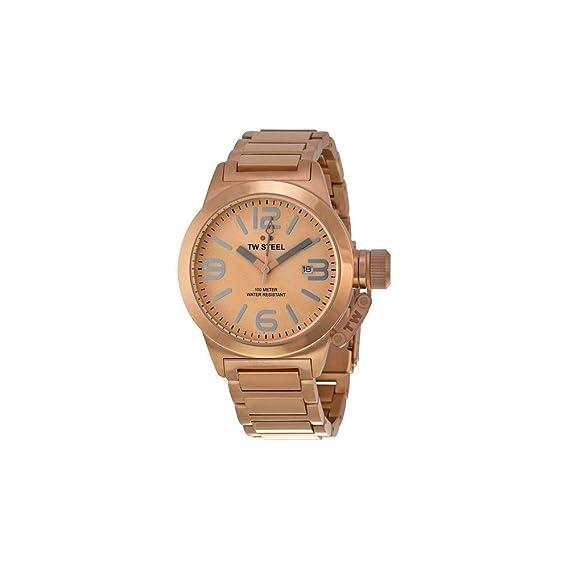 Tw Steel TW303- Reloj de pulsera unisex, oro rosa