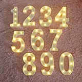MUMUXI LED Marquee Number Lights Sign Light Up