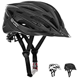 Cheap Airflow Bike Helmet [ BLACK / MEDIUM – LARGE ] for Adult Men & Women and Youth / Teenagers – CPSC Certified Bicycle Helmets for Road, Urban, Street or Mountain Biking – Best Cycling Gift Idea