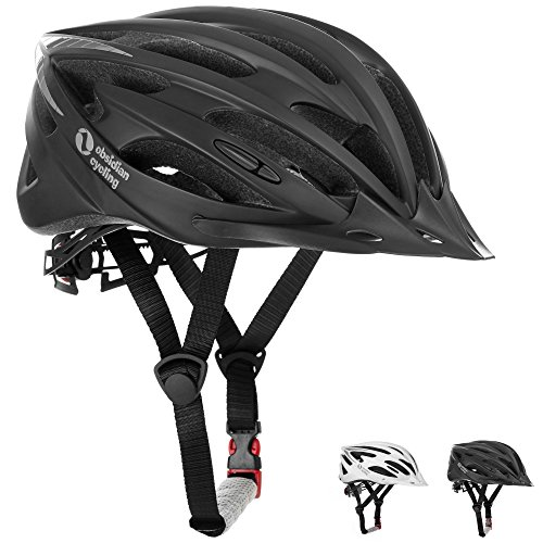Airflow Bike Helmet [ BLACK / MEDIUM - LARGE ] for Adult Men and Women / Teen Boys and Girls - CPSC Certified Bicycle Helmets for Best Road, Urban, Street or Mountain Biking - Christmas Gift Ideas