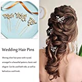 Unicra Bride Wedding Crystal Hair Pins Flower