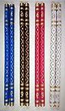 Generic Wood Sankheda Dandiya (Multicolor, Pack Of 4 Pair, 1.7 Cm Diameter x 36 Cm Length)