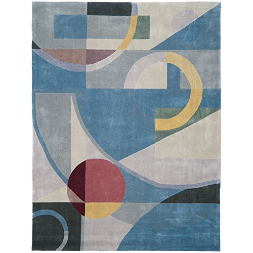 Safavieh Rodeo Drive Collection RD845B Handmade Modern Abstract Art Blue and Multi Wool Area Rug (6' x - Collection Drive Rodeo