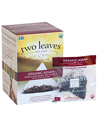 Two Leaves and a Bud Organic Assam Breakfast Tea -- 15 Tea Bags ()
