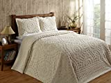 Better Trends / Pan Overseas 102 x 110'' Rio Bedspread, Queen, Ivory