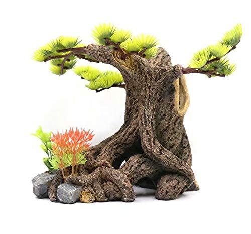 18x11.5x16.5cm Aquarium Decoration Rockery Welcoming Pine Water Grass Aquarium Landscaping Simulation Tree Root Sinking Wood Ornaments