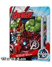 Disney Set papeleria Vengadores Avengers Marvel libreta boligrafo