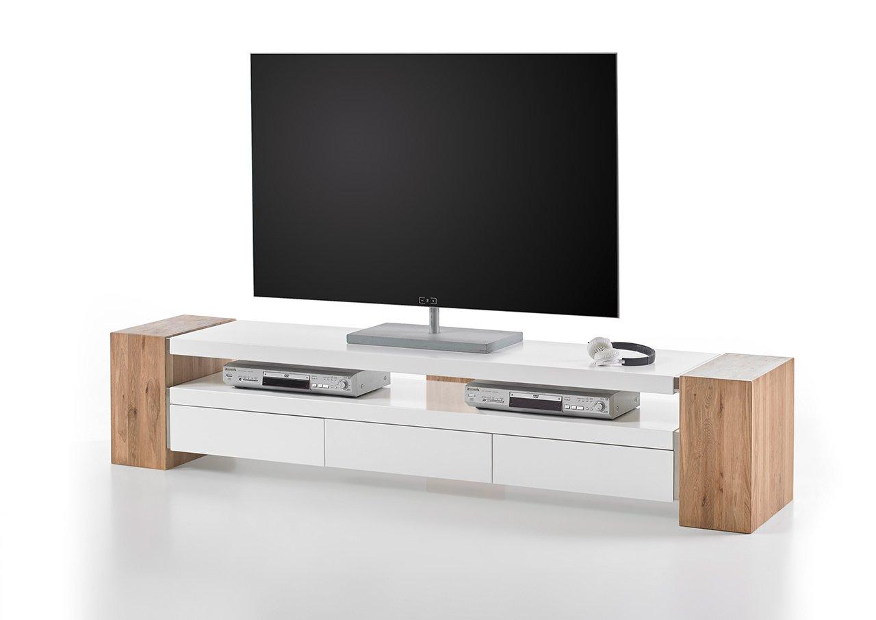 LED TV Schrank Lowboard TV Regal Möbel Fernseher Fernsehtisch Weiß 130cm Neu-1