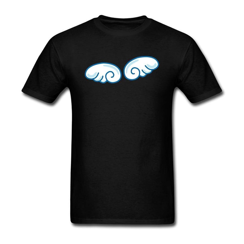 NUTTGM Cartoon Wings Art Man 100% Cotton T Shirt