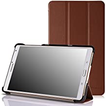 MoKo Ultra Slim Lightweight Smart-shell Stand Case for Samsung Galaxy Tab S 8.4 Inch Android Tablet, COFFEE (Will NOT Fit tab pro 8.4) (With Smart Cover Auto Wake / Sleep)