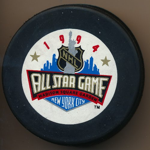 1994 NHL Al Star Game Puck Madison Square Garden