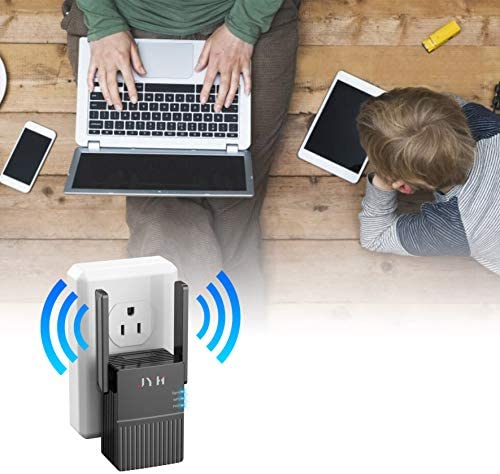 2021 WiFi Range Extender, Up to 1200Mbps Speed, Covers Up to 1500 Sq.feet, Dual Band WiFi Repeater, WiFi Booster to Extend Range of WiFi Internet Connection(Only Support Repeater Mode)