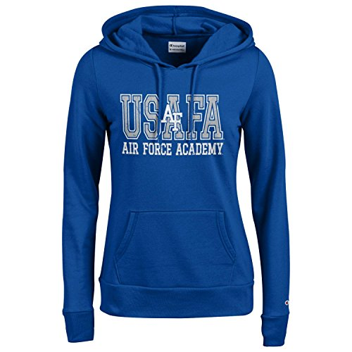 Champion NCAA Women's Comfy Fitted Sweatshirt University Fleece Hoodie Air Force Falcons Large