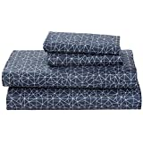 Rivet Spectrum Sateen Cotton Sheet Set, Full, Denim Blue