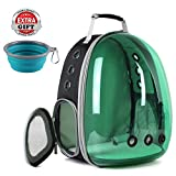 Cat Carrying Backpack, Polarized Transparent Bubble Cat Hiking Backpack UV Protection (Polarized Green)